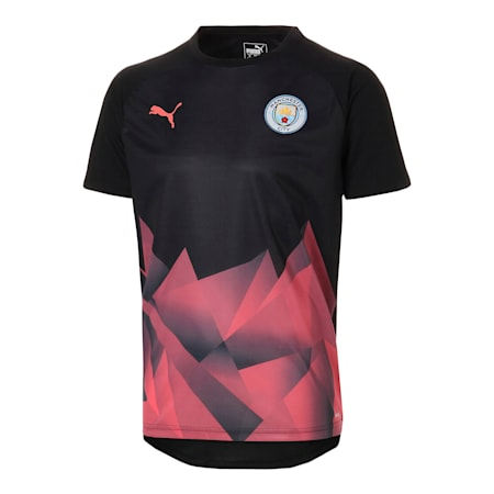 Man City Men's International Stadium Short Sleeve Jersey, Puma Black-Georgia Peach, small-SEA