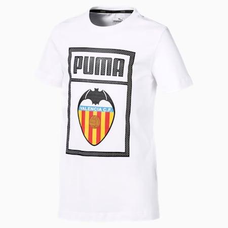 T-shirt voor kinderen met Valencia CF-schoenlabel, Puma White, small