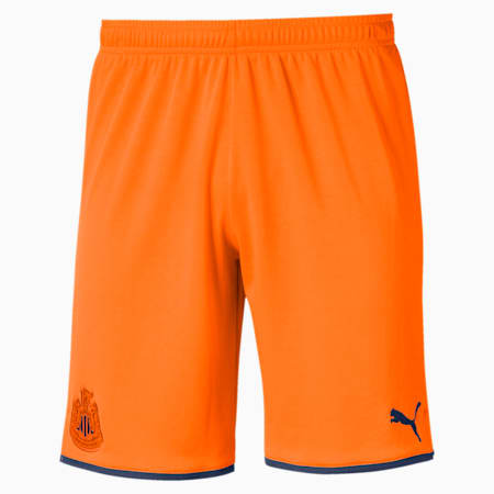 Newcastle United FC Men's Replica Shorts, Vibrant Orange-Peacoat, small