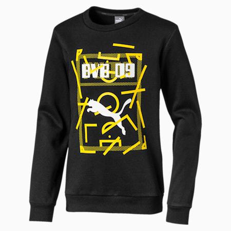 BVB DNA Kids' Sweater, Puma Black, small