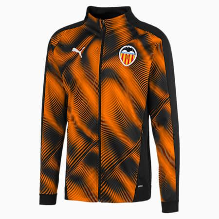 Meska kurtka Valencia CF Stadium, Puma Black-Vibrant Orange, small