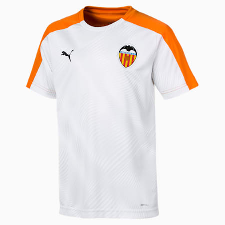 Valencia CF Kids' Stadium Jersey, Vibrant Orange-Puma White, small