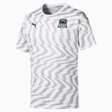 FC Krasnodar Men's Away Replica Jersey, Puma White-Gray Violet, small