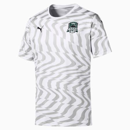 Replika koszulki wyjazdowej FC Krasnodar dla mezczyzn, Puma White-Gray Violet, small