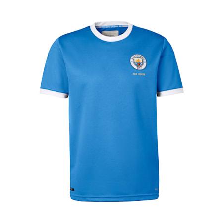 Manchester City Men's 125 Year Anniversary Replica Jersey, Marina-Puma White, small-SEA