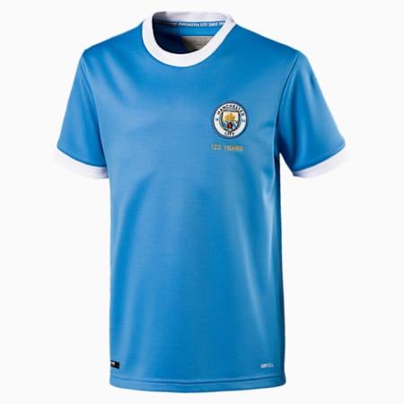 Dziecieca replika koszulki pilkarskiej upamietaniajacej 125 rocznice powstania klubu Manchester City, Marina-Puma White, small