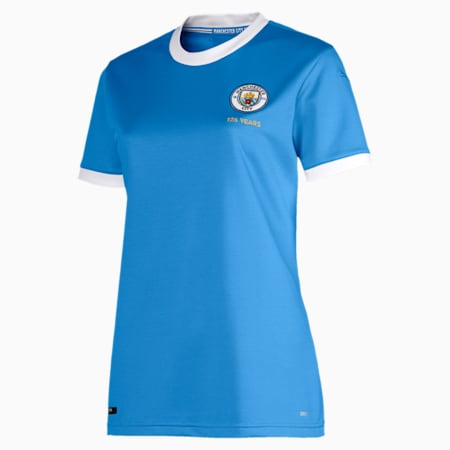 Manchester City Women's 125 Year Anniversary Jersey, Marina-Puma White, small