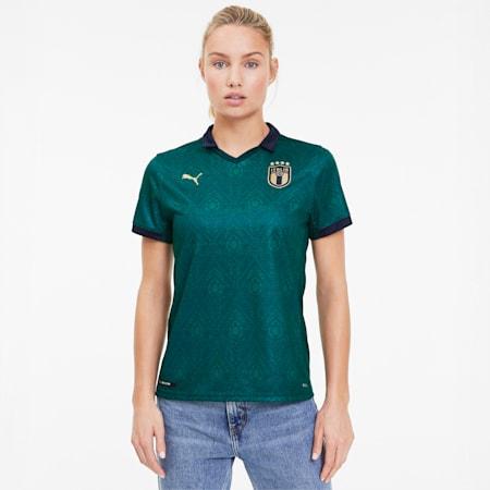 Camiseta para mujer réplica 3.ª equipación Italia, Ponderosa Pine-Peacoat, small
