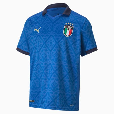 Italia Kids' Home Replica Jersey, Team Power Blue-Peacoat, small