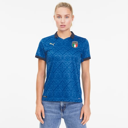 Italia Women's Home Replica Jersey, Team Power Blue-Peacoat, small