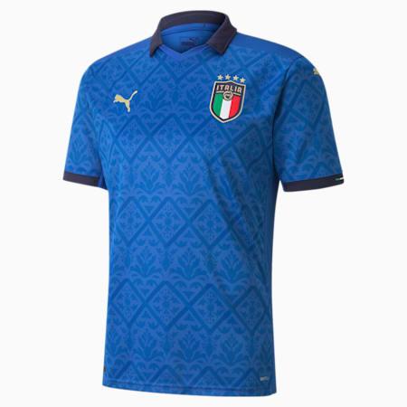Reproduction du maillot à domicile FIGC, homme, équipe bleu puissant-bleu caban, petit