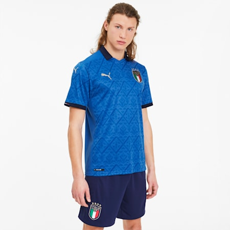 Męska replika domowej koszulki reprezentacji Włoch, Team Power Blue-Peacoat, small