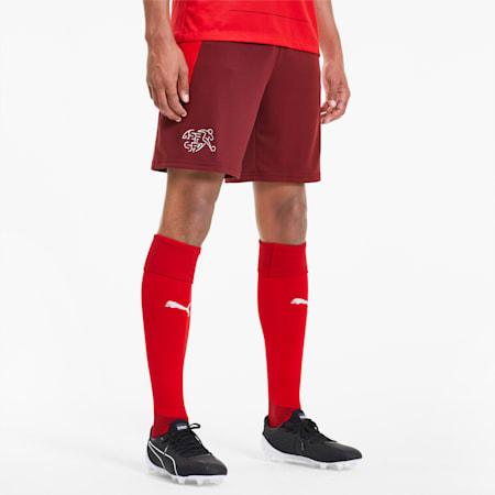 Shorts Home Suisse Replica da uomo, Pomegranate-Puma Red, small