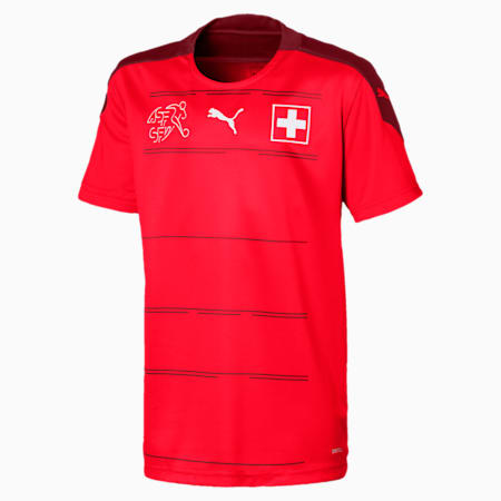 Suisse Kids' Home Replica Jersey, Puma Red-Pomegranate, small