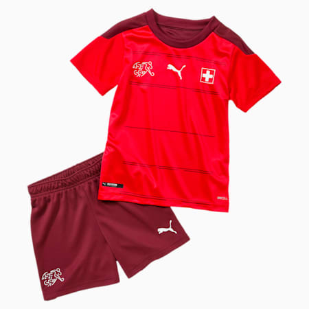 Suisse thuistenue babyset, Puma Red-Pomegranate, small