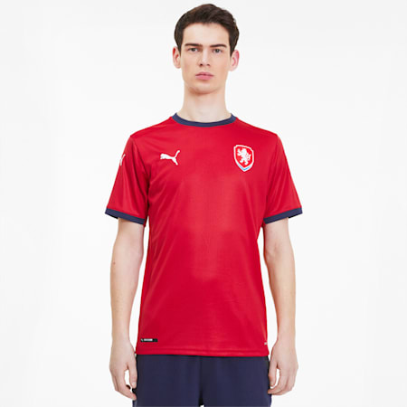 Camiseta réplica de la 1.ª equipación de la República Checa para hombre, Chili Pepper-Peacoat, small