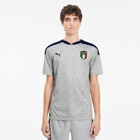 FIGC イタリア GK SS レプリカシャツ 半袖 ユニフォーム, Gray Violet-Peacoat, small-JPN