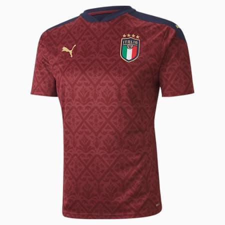 Italia Men's Replica Goalkeeper Jersey, Cordovan-Peacoat, small-GBR