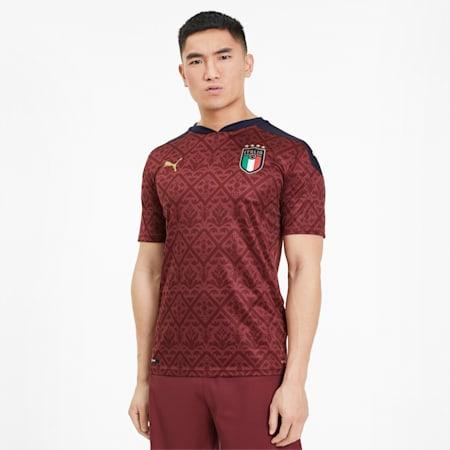 Italia Men's Replica Goalkeeper Jersey, Cordovan-Peacoat, small