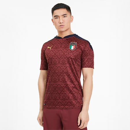 Replika męskiej koszulki bramkarskiej Italia, Cordovan-Peacoat, small