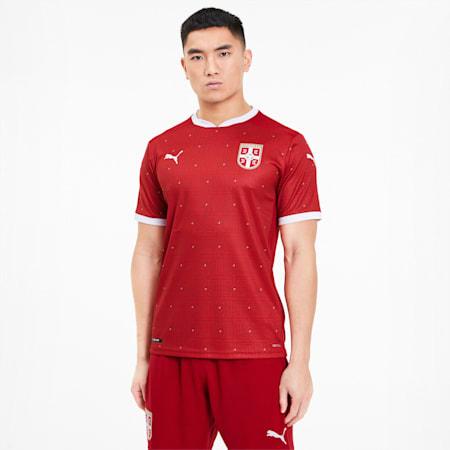 Camiseta réplica de la 1.ª equipación de Serbia para hombre, Chili Pepper-Puma Red, small