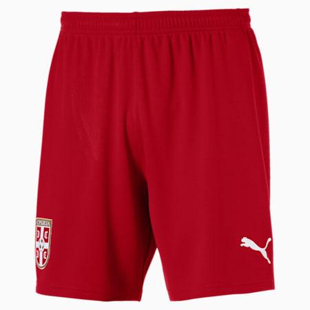 Serbia Men's Home Replica Shorts, Chili Pepper-Puma Red, small