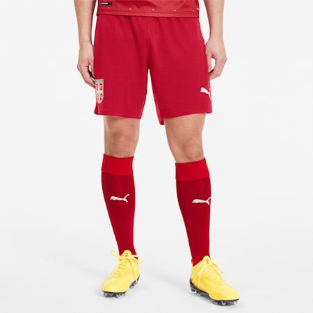 Shorts de la 1.ª equipación de Serbia para hombre, Chili Pepper-Puma Red, small