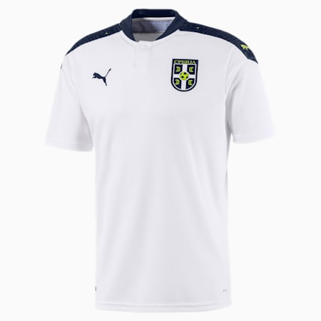 Serbia Men's Away Replica Jersey, Puma White-Peacoat, small-GBR