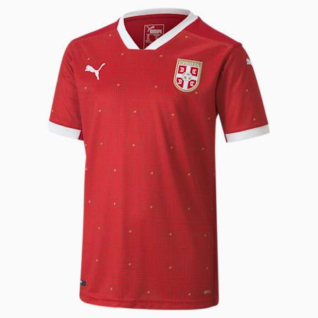 Dziecięca replika domowej koszulki Serbii, Chili Pepper-Puma Red, small