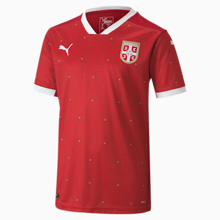 Serbia Replica thuisshirt voor kinderen, Chili Pepper-PUMA Red, small