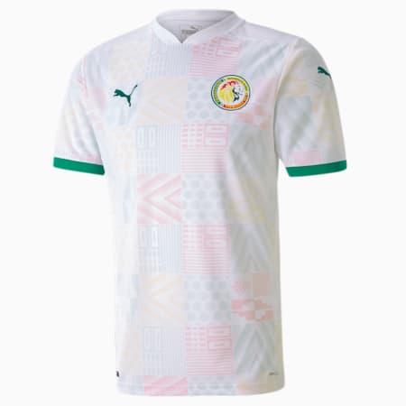 Męska replika koszulki wyjazdowej reprezentacji Senegalu, Puma White-Pepper Green, small