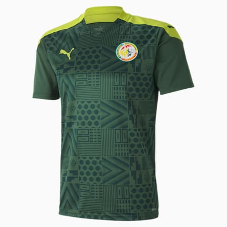 Męska replika koszulki wyjazdowej reprezentacji Senegalu, Dark Green-Limepunch, small