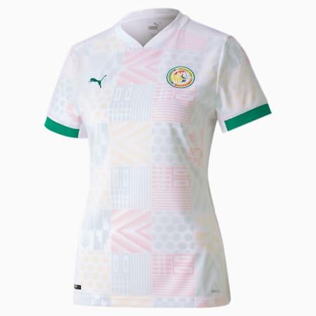 Camiseta réplica de la 1.ª equipación de Senegal para mujer, Puma White-Pepper Green, small