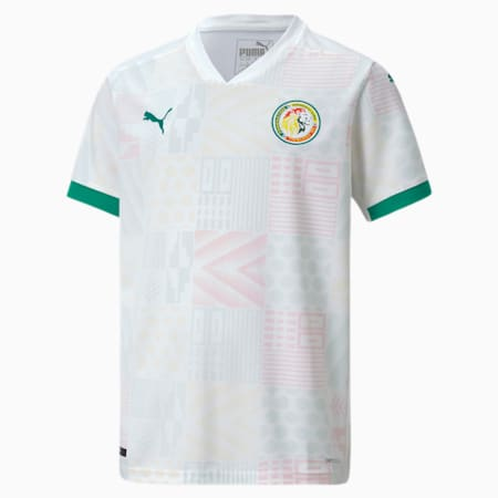 Senegal Home Replica Youth Jersey, Puma White-Pepper Green, small-GBR