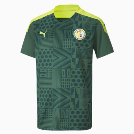 Maglia Senegal Away Replica Youth, Dark Green-Limepunch, small