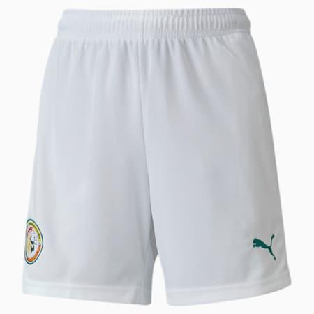 Senegal Home Replica Youth Football Shorts, Puma White-Pepper Green, small-GBR