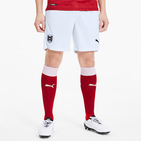Austria Home Replica Men's Shorts, Puma White-Puma Red, small