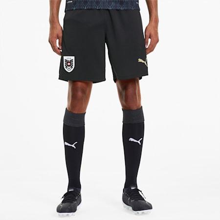 Shorts para hombre Austria Away Replica, Puma Black-Puma Team Gold, small