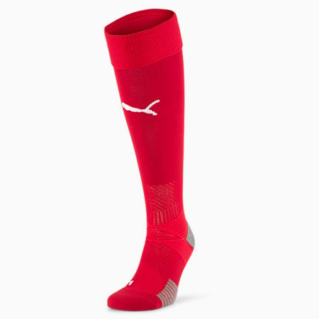 PUMA x SERBIA Men's Home Replica Football Socks, Chili Pepper-Puma Red-Victory Gold-Puma White, small-GBR