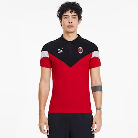 AC Milan Iconic MCS Men's Polo, Tango Red, small