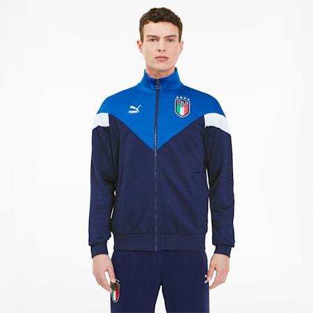 Italia Iconic MCS Men's Track Jacket, Team Power Blue-Peacoat, small