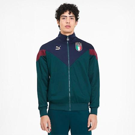 Italia Iconic MCS Men's Track Jacket, Ponderosa Pine-Peacoat, small-GBR