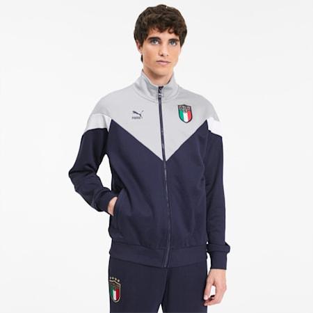 FIGC イタリア ICONIC MCS トラックジャケット, Peacoat-Gray Violet, small-JPN