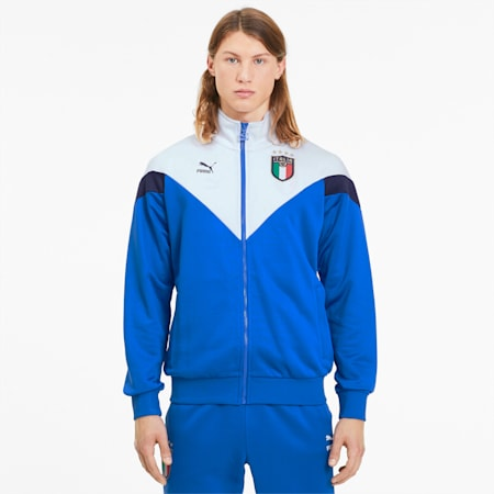 Italia Iconic MCS Herren Trainingsjacke, Team Power Blue-Puma White, small