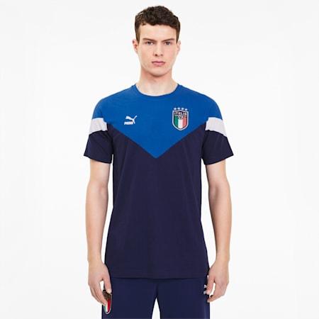 Italia Iconic MCS Herren T-Shirt, Peacoat-team power blue, small