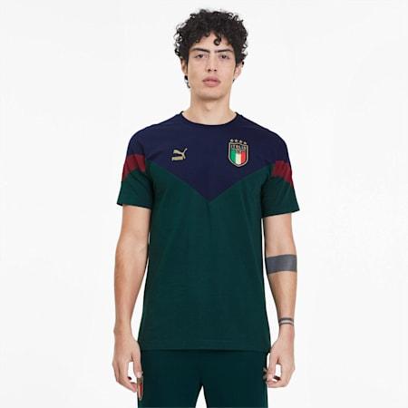 Camiseta Iconic MCS de la FIGC para hombre , Ponderosa Pine-Peacoat, pequeño
