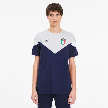 FIGC イタリア ICONIC MCS Tシャツ 半袖, Peacoat-Gray violet, small-JPN
