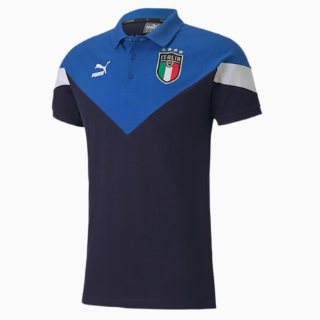Italia Iconic MCS Men's Polo, Peacoat-team power blue, small