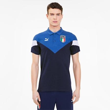 Italia Iconic MCS Herren Polo, Peacoat-team power blue, small