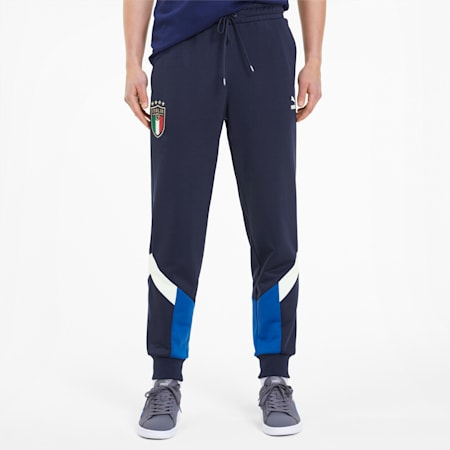 Italia Iconic MCS Men's Track Pants, Team Power Blue-Peacoat, small